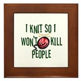 Cute Knitting Framed Tile