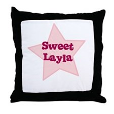 Sweet Layla Throw Pillow