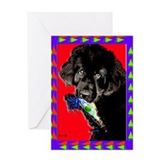 Newfoundland Dog It's a Party! Greeting Card