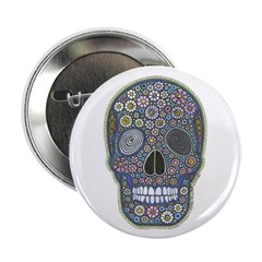 "Millefiori Skull 2.25"" Button (100 pack)"