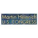 Martin Heinrich for Congress bumper sticker