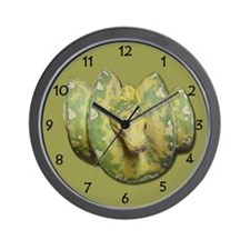 Unique Green tree python Wall Clock