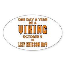 Be A Viking Oval Decal