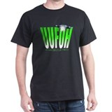 UUFOH (green slant) Black T-Shirt
