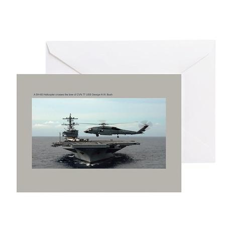 CVN 77 USS George H.W. Bush Greeting Cards (Pk of