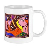 African Fantasy Tribal Art Small Mugs