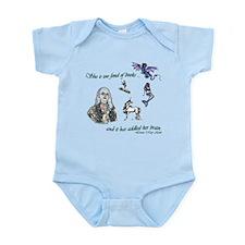 Too Fond of Books Infant Bodysuit