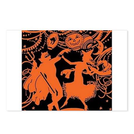 Vintage Halloween Dancers Postcards (Package of 8)
