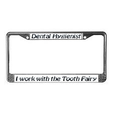 License Plate Frame Dental Hygieist Tooth Fairy