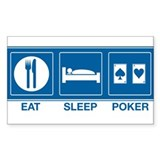 Eat Sleep Poker Rectangle Decal