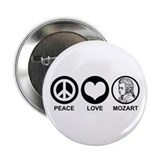 "Peace Love Mozart 2.25"" Button"