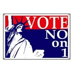Vote NO on 1 Banner for Same-Sex Marriage
