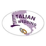 Italian Wedding Oval Sticker