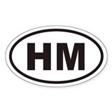 HM Euro Oval Decal