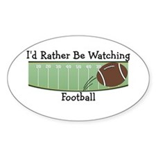 Watching Football Oval Decal