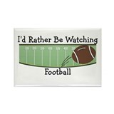 Watching Football Rectangle Magnet
