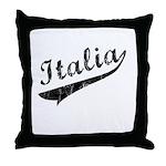 Italia Vintage Baseball Throw Pillow