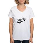 Italia Vintage Baseball Women's V-Neck T-Shirt