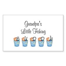 Grandpa's Fishing Buddy Rectangle Decal