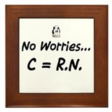 No worries C= RN Framed Tile