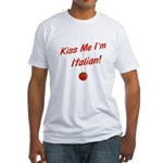 Kiss Me I'm Italian Fitted T-Shirt