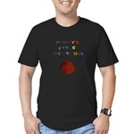 Mommy's Little Meatball Men's Fitted T-Shirt (dark
