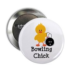 "Bowling Chick 2.25"" Button"