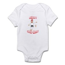 Martial Arts Christmas Infant Bodysuit
