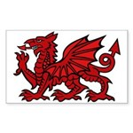 Midrealm red dragon vinyl Rectangle Sticker