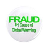 "Global Warming Fraud 3.5"" Button (100 pack)"
