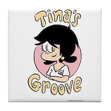 Tina Face With Logo Tile Coaster