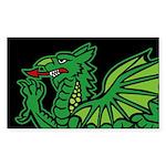 Midrealm BLK Dragon vinyl euro-style Sticker