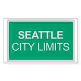 City Limits Rectangle Sticker 10 pk)