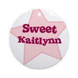 Sweet Kaitlynn Ornament (Round)