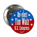 Re-elect Tim Walz to Congress campaign button