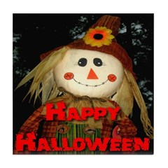 Happy Halloween Scarecrow Tile Coaster