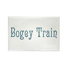 Bogey Train Rectangle Magnet (100 pack)