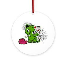 Zombie Kitty Ornament (Round)