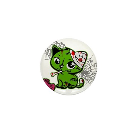Zombie Kitty Mini Button (10 pack)