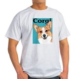 Blue Pop Pembroke Welsh Corgi T-Shirt