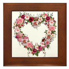 Floral Heart Framed Tile