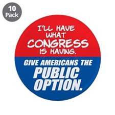 "SUPPORT THE PUBLIC OPTION 3.5"" Button (10 pack)"
