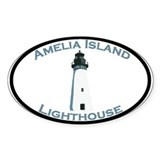 Amelia Island FL Oval Decal
