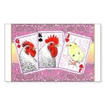 Delaware Family Cards Rectangle Sticker 50 pk)