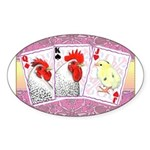 Delaware Family Cards Oval Sticker (10 pk)