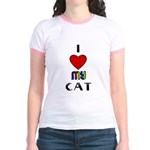 LOVE MY CAT Jr. Ringer T-Shirt
