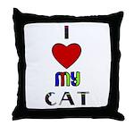 LOVE MY CAT Throw Pillow