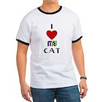 LOVE MY CAT Ringer T