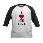 LOVE MY CAT Kids Baseball Jersey