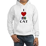 LOVE MY CAT Hooded Sweatshirt